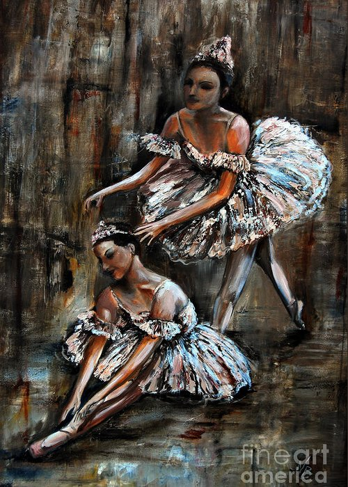 Ballet Greeting Card featuring the painting Ballerina by Nancy Bradley
