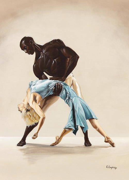 Ballet Greeting Card featuring the painting Ballet 1 by Karen Loughridge KLArt