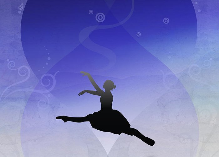 Ballet Greeting Card featuring the digital art Ballet In Solitude by Bedros Awak