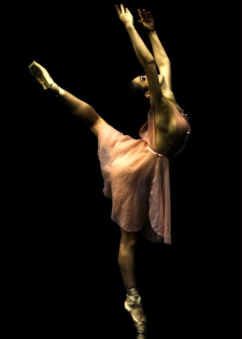 Fine Art Greeting Card featuring the photograph Ballet On The Toe by Christopher Davis Photography
