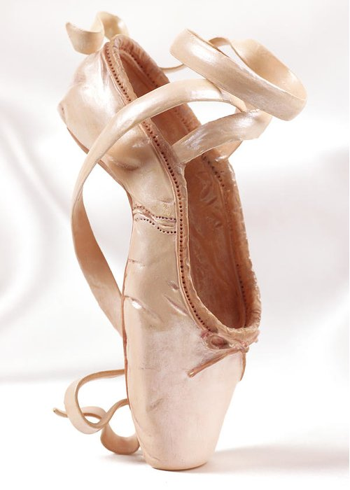 Ballerina Greeting Card featuring the photograph Ballet Shoe by Kitty Ellis