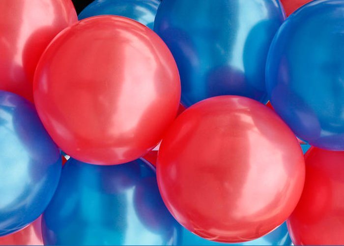 Air Greeting Card featuring the photograph Balloons by Tom Gowanlock