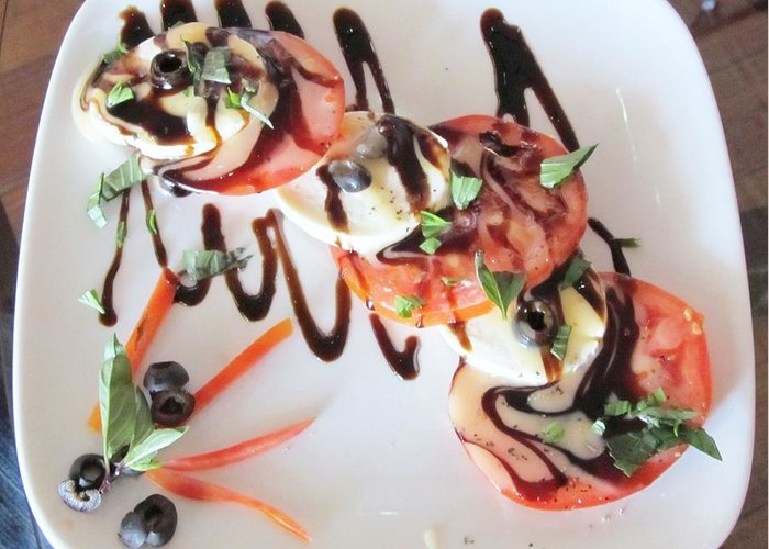 Balsamic Salad Greeting Card featuring the photograph Balsamic Salad by Donna Wilson