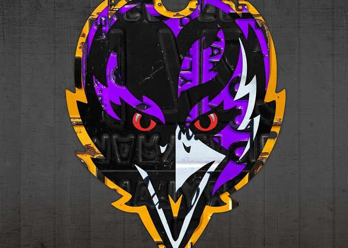 Baltimore Ravens Greeting Cards Fine Art America
