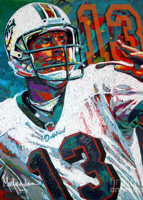 Dan Marino Paintings Greeting Cards