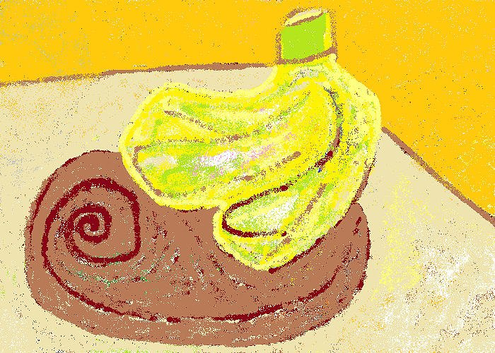 Bananas Greeting Card featuring the painting Bananas From Paphos 3 by Anita Dale Livaditis