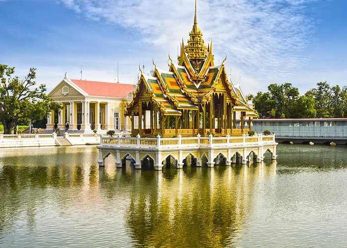 Architecture Greeting Card featuring the photograph Bang Pa In Palace Thailand by Colin and Linda McKie