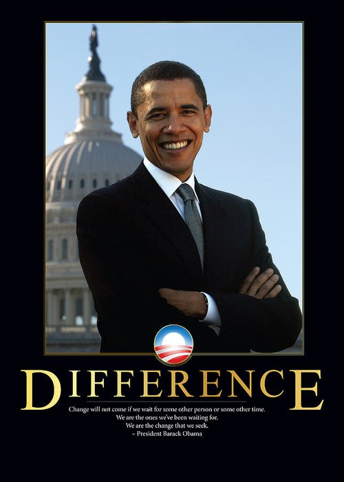 Barack Obama Greeting Card featuring the photograph Barack Obama Difference by Retro Images Archive