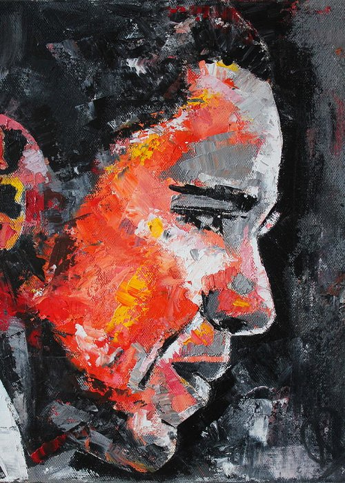 Barack Obama Greeting Card featuring the painting Barack Obama by Richard Day