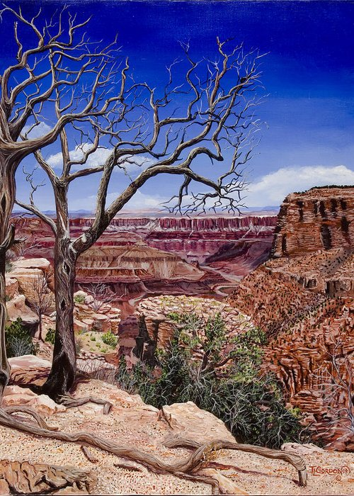 Landscape Greeting Card featuring the painting Bare Limbs by Timithy L Gordon