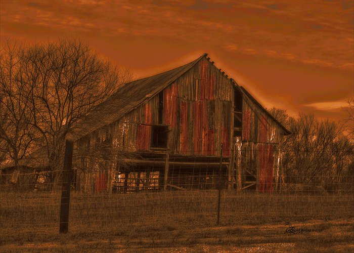 Barn Greeting Card featuring the photograph Barn 22 by Ericamaxine Price
