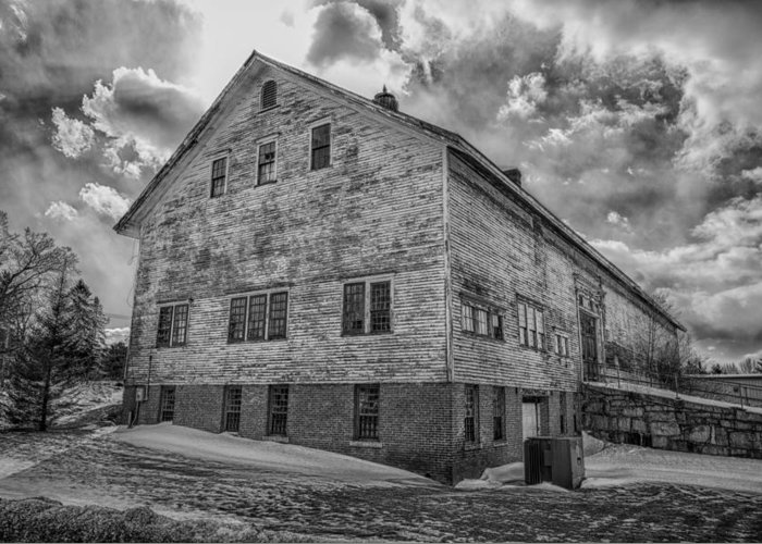 Amhi Greeting Card featuring the photograph Barn At Amhi  7k00333 by Guy Whiteley