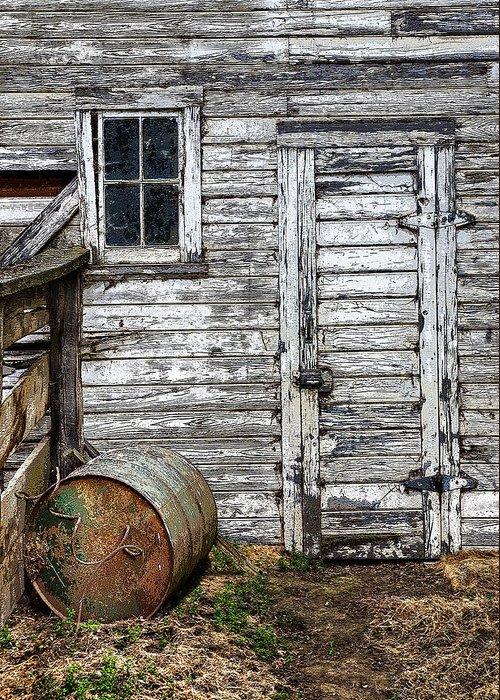 Barn Greeting Card featuring the photograph Barn Door by Armando Picciotto