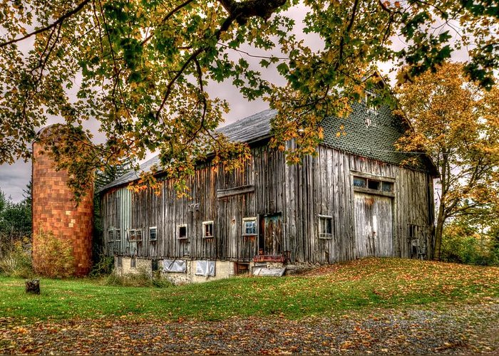 Fall House Greeting Card featuring the photograph Barn House by Craig Incardone