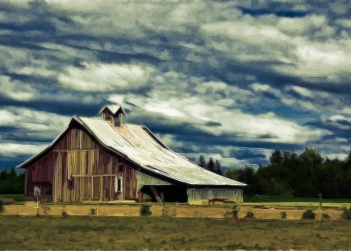 Cabin Greeting Card featuring the photograph Barn by Steve McKinzie