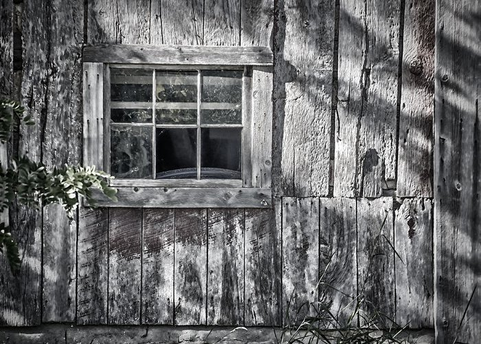 Abandoned Greeting Card featuring the photograph Barn Window by Joan Carroll
