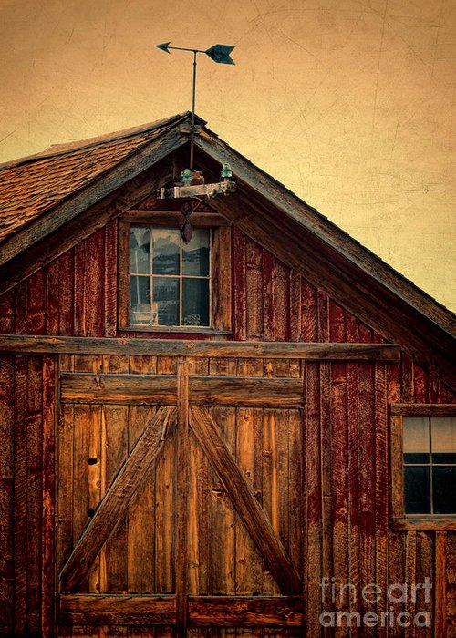 Farm Greeting Card featuring the photograph Barn With Weathervane by Jill Battaglia