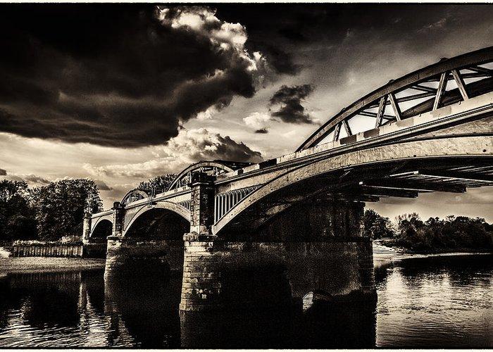 rail Bridge Greeting Card featuring the photograph Barnes Rail Bridge by Lenny Carter
