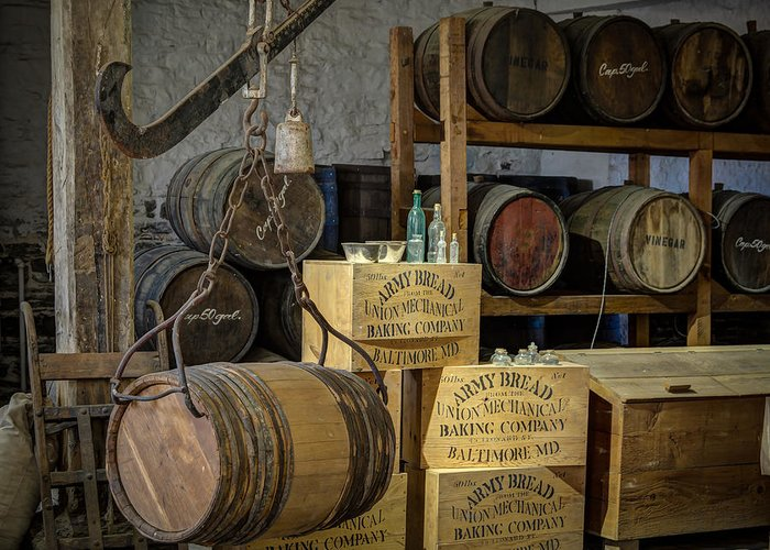 Barrel Greeting Card featuring the photograph Barrels by James Barber