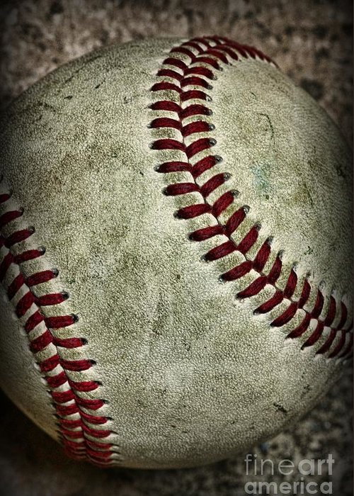 Paul Ward Greeting Card featuring the photograph Baseball - A Retired Ball by Paul Ward