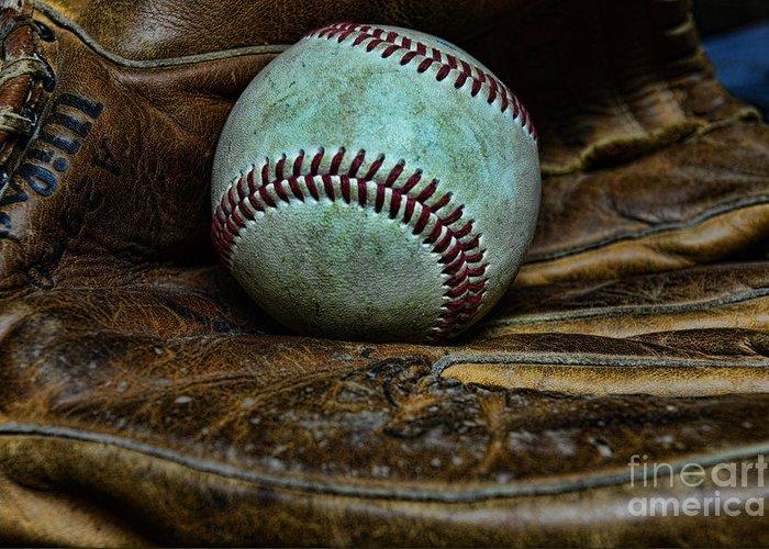 Paul Ward Greeting Card featuring the photograph Baseball Broken In by Paul Ward