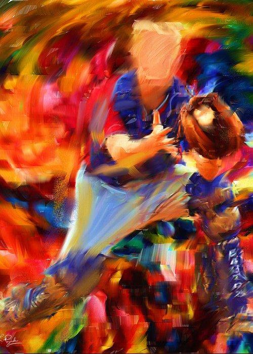 Baseball Greeting Card featuring the digital art Baseball II by Lourry Legarde
