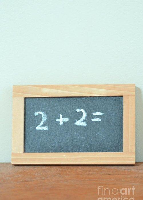 Math Greeting Card featuring the photograph Basic Math by Birgit Tyrrell