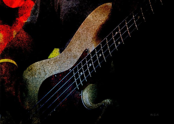 Bass Greeting Card featuring the photograph Bass Guitar by Bob Orsillo