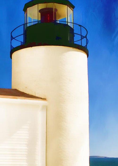Bass Harbor Greeting Card featuring the photograph Bass Harbor Head Lighthouse Maine by Carol Leigh
