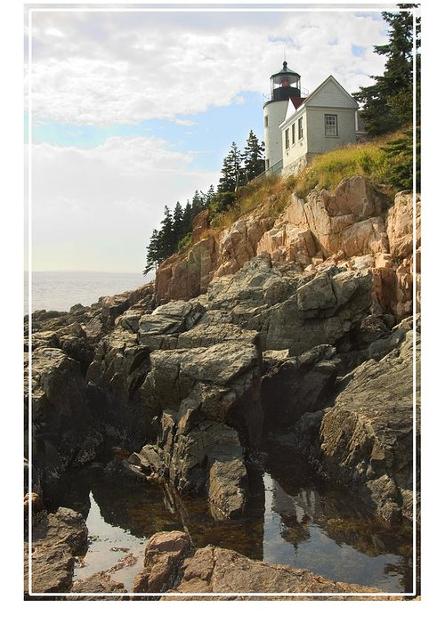 Bass Harbor Greeting Card featuring the photograph Bass Harbor Head Lighthouse by Mike McGlothlen