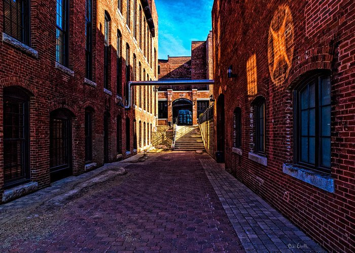 Architecture Greeting Card featuring the photograph Bates Mill Lewiston Maine by Bob Orsillo