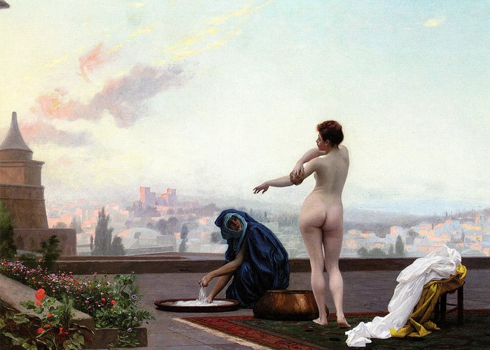 Bathsheba Greeting Card featuring the painting Bathsheba by Jean-Leon Gerome