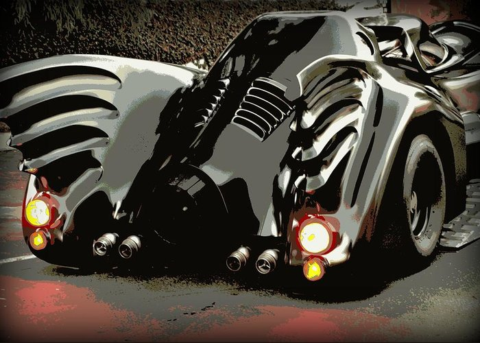 Batmobile Greeting Card featuring the photograph Batmobile 2 by Cathy Smith
