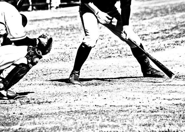Baseball Greeting Card featuring the photograph Batter Up by Karol Livote