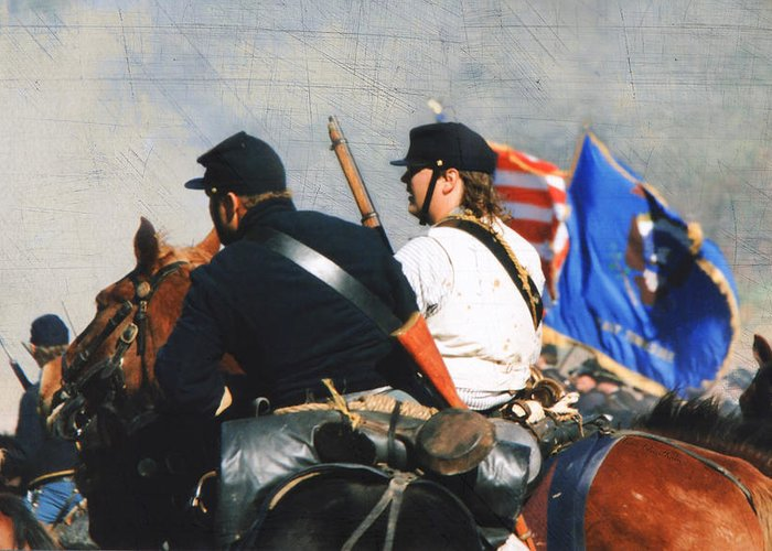 Reenactment Greeting Card featuring the photograph Battle Of Franklin - 2 by Kae Cheatham
