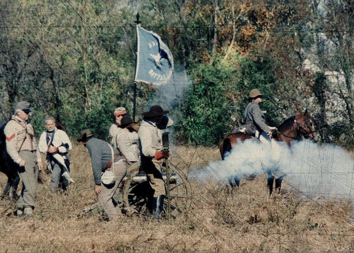 Civil War Greeting Card featuring the photograph Battle Of Franklin - 3 by Kae Cheatham