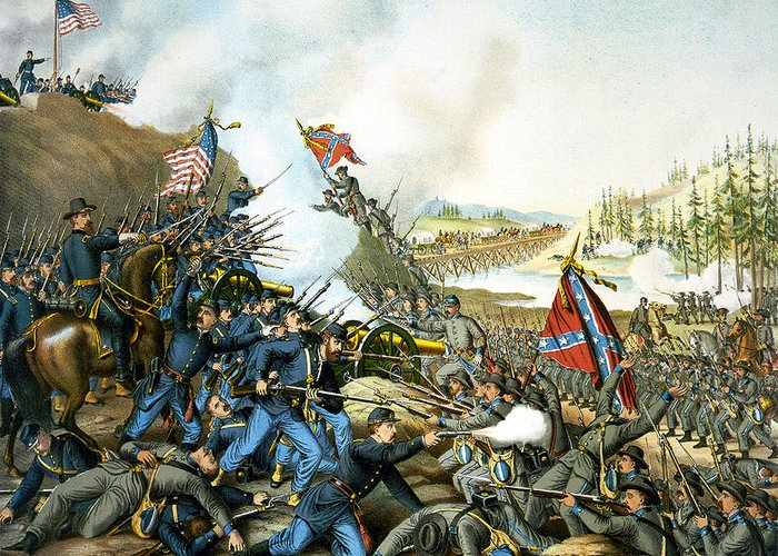 Franklin Tennessee Greeting Card featuring the digital art Battle Of Franklin by Unknown