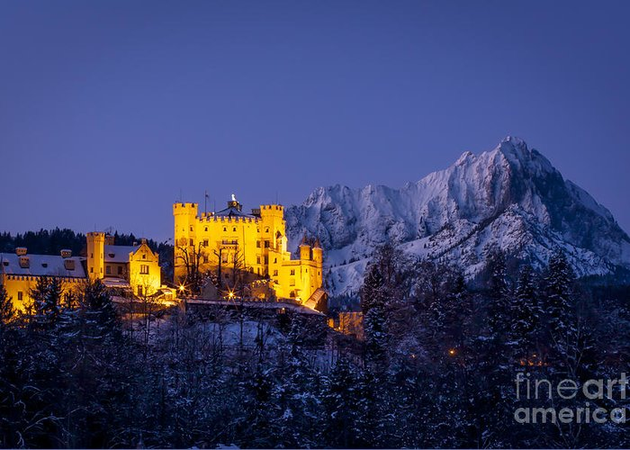 Hohenschwangau Greeting Card featuring the photograph Bavarian Castle by Brian Jannsen
