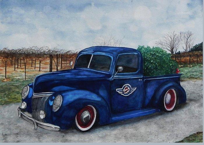Truck Greeting Card featuring the painting Baxter Truck by Stacey Pilkington-Smith