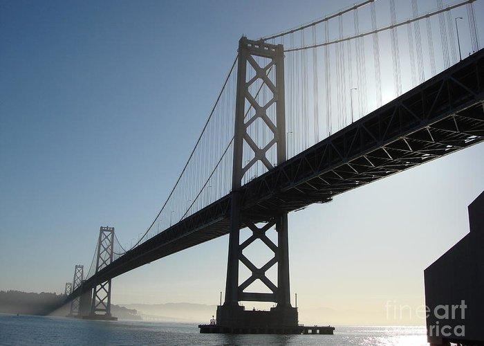 Bay Bridge Greeting Card featuring the photograph Bay Bridge Morning by Mark Etchason