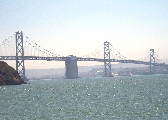Bay Bridge Greeting Card featuring the photograph Bay Bridge by Pharris Art