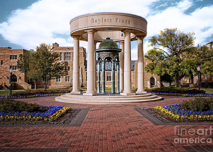 Tulsa Greeting Card featuring the photograph Bayless Plaza by Tamyra Ayles