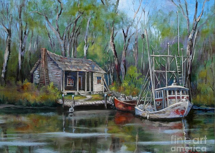 Bayou Paintings Greeting Cards