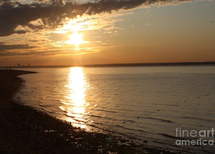Bayille Sunset Greeting Card featuring the photograph Bayville Sunset by John Telfer