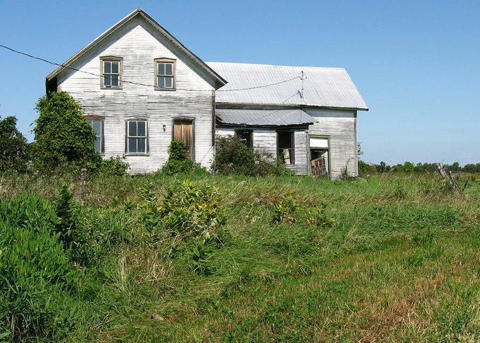 Abandoned Farmhouses Greeting Card featuring the photograph Be Careful At The Well. by Richard Stanford