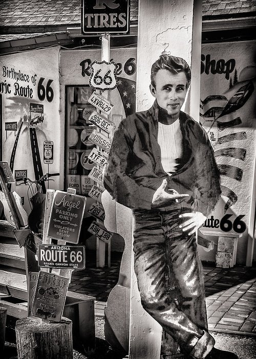 James Dean Greeting Card featuring the photograph Be Still My Heart by Diane Wood