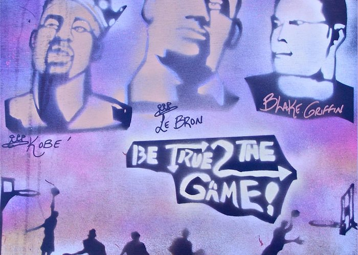 Kobe Bryant Greeting Card featuring the painting Be True 2 The Game 1 by Tony B Conscious
