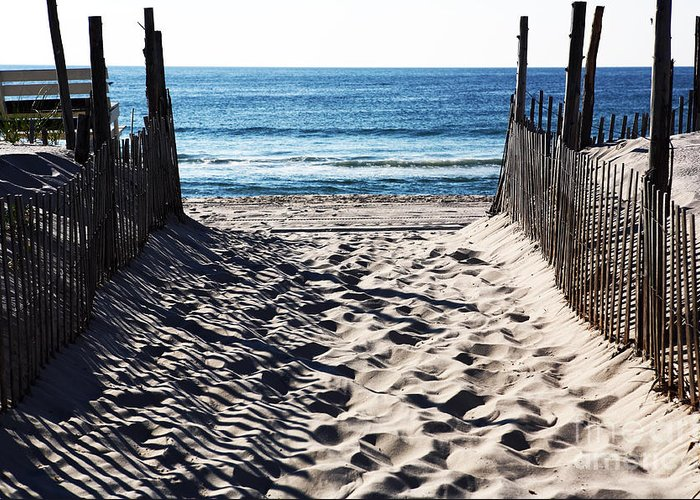 Beach Entry Greeting Card featuring the photograph Beach Entry by John Rizzuto