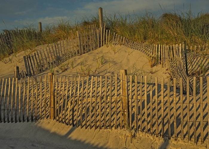 Cape Cod Greeting Card featuring the photograph Beach Fence by Susan Candelario