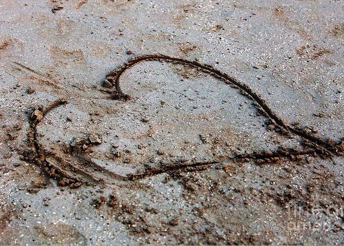 Beach Heart Greeting Card featuring the photograph Beach Heart by John Rizzuto